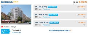 First minute dovolená v Turecku