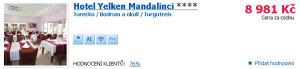 Hotel Yelken Mandalinci: All Inclusive dovolená v tureckém Bodrumu
